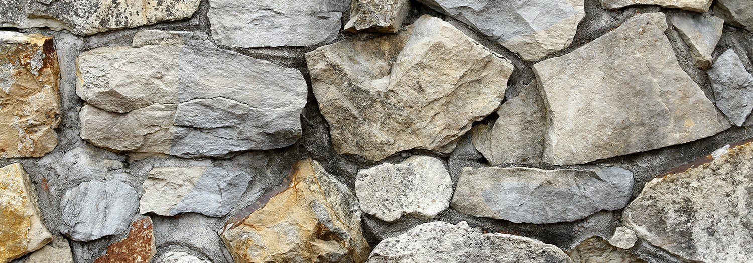 Silver Medley Rock/HD Stone Aquarium Background Rocky Fish Tank Background Various Sizes (24''x72'') by BannersNStands