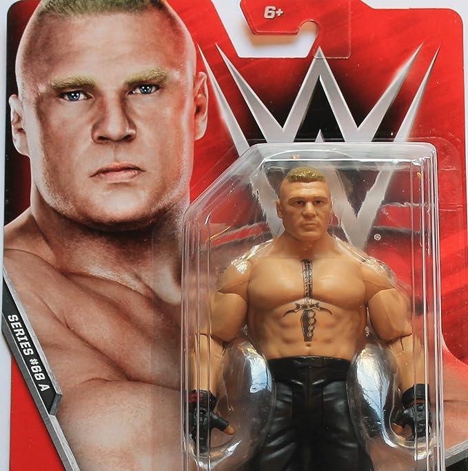 WWE WRESTLING BASIC SERIES #68 SUPERSTAR WRESTLER BROCK LESAR FIGURE MATTEL
