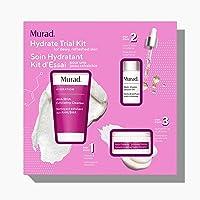 Murad Hydrate Trial Kit – Moisturizing Skincare Set with AHA/BHA Exfoliating Cleanser, Multi-Vitamin Infusion Oil…