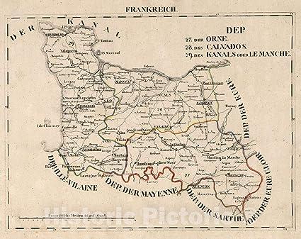 Amazon com: Historic Map | V 1:1-5: I: Frankreich  DEP: 27