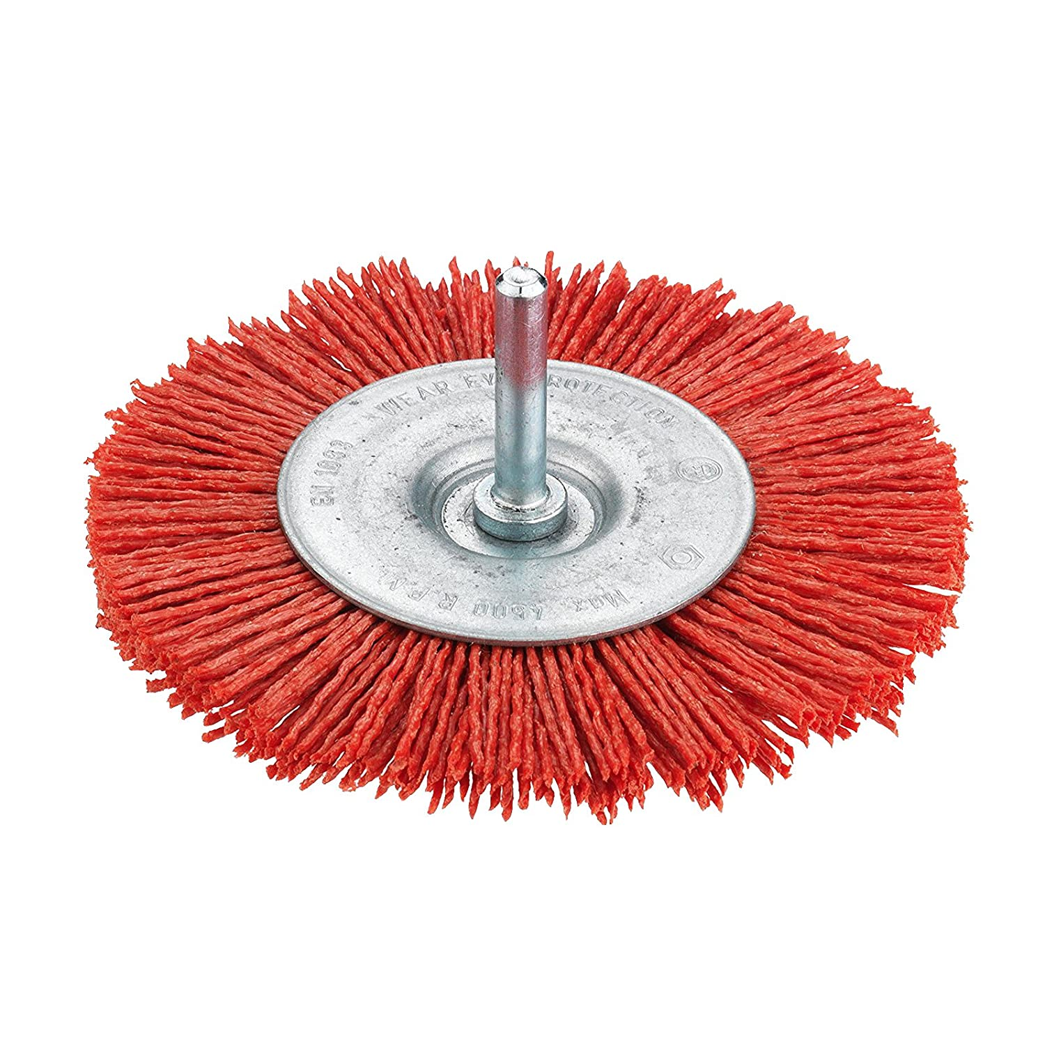 Connex COM217075 Rotary Wire Cup Brush of Nylon, Red/Silver, 75 mm Conmetall
