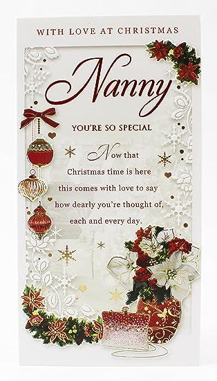 Nanny Weihnachten Karte Grußkarte Luxus Traditionelle 3D Folie vers ...