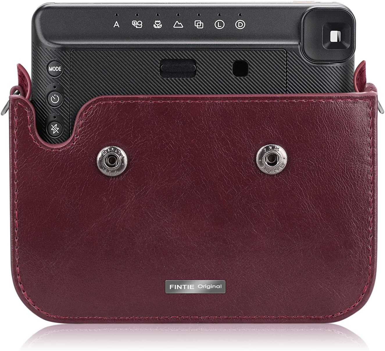 Fintie Protective Case Compatible with Fujifilm Instax Square SQ6 Instant Film Camera Black Premium PU Leather Bag Cover with Removable Adjustable Strap