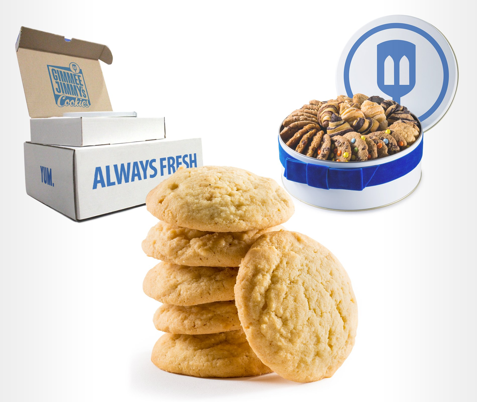 Gimmee Jimmy's Cookies| Fresh Baked Sugar Cookies- 14 Pounds of Beautiful Cookies in a Perfect Cookie Tin