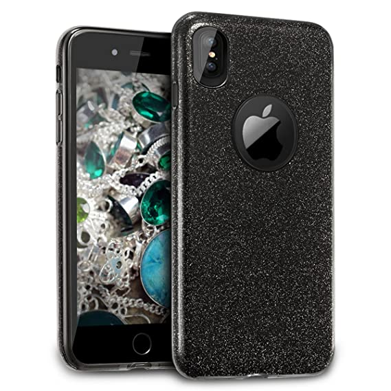 new arrivals d3f7e 3c30c Amazon.com: Velocifire iPhone X Case in Black for Men, Slim Scratch ...