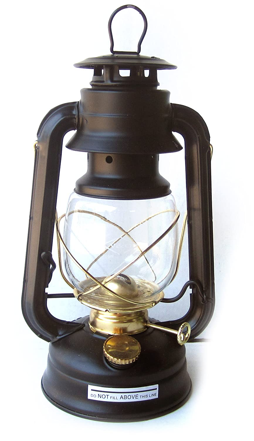 V&O Centennial Gold Trim Oil Lantern