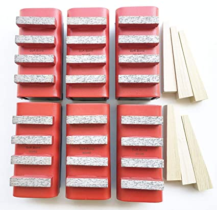 New 6PK Red Bond(Ideal for Hard Concrete) Diamond Grinding