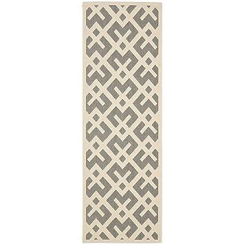 Beautiful Safavieh Courtyard Collection CY6915 236 Grey And Bone Indoor/ Outdoor  Runner (2u0027