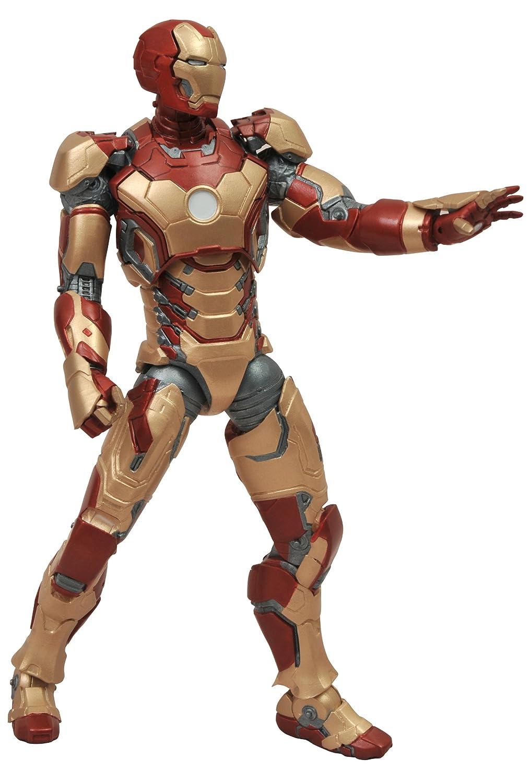 Promoción por tiempo limitado IronMan 3 Marvel Select Mk42 - Figura de acción, diseño de Iron Man DEC121590 - Figura MK42 (18 cm)