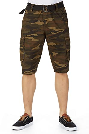 d77aa061cb XRAY Men's Belted Heavy Stitched Cargo Shorts | 14
