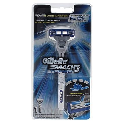 Gillette Mach3 Turbo - maquinillas de afeitar para hombres (Multicolor)