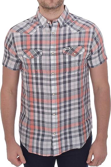 Wrangler Western - Camisa de manga corta con botones de ...