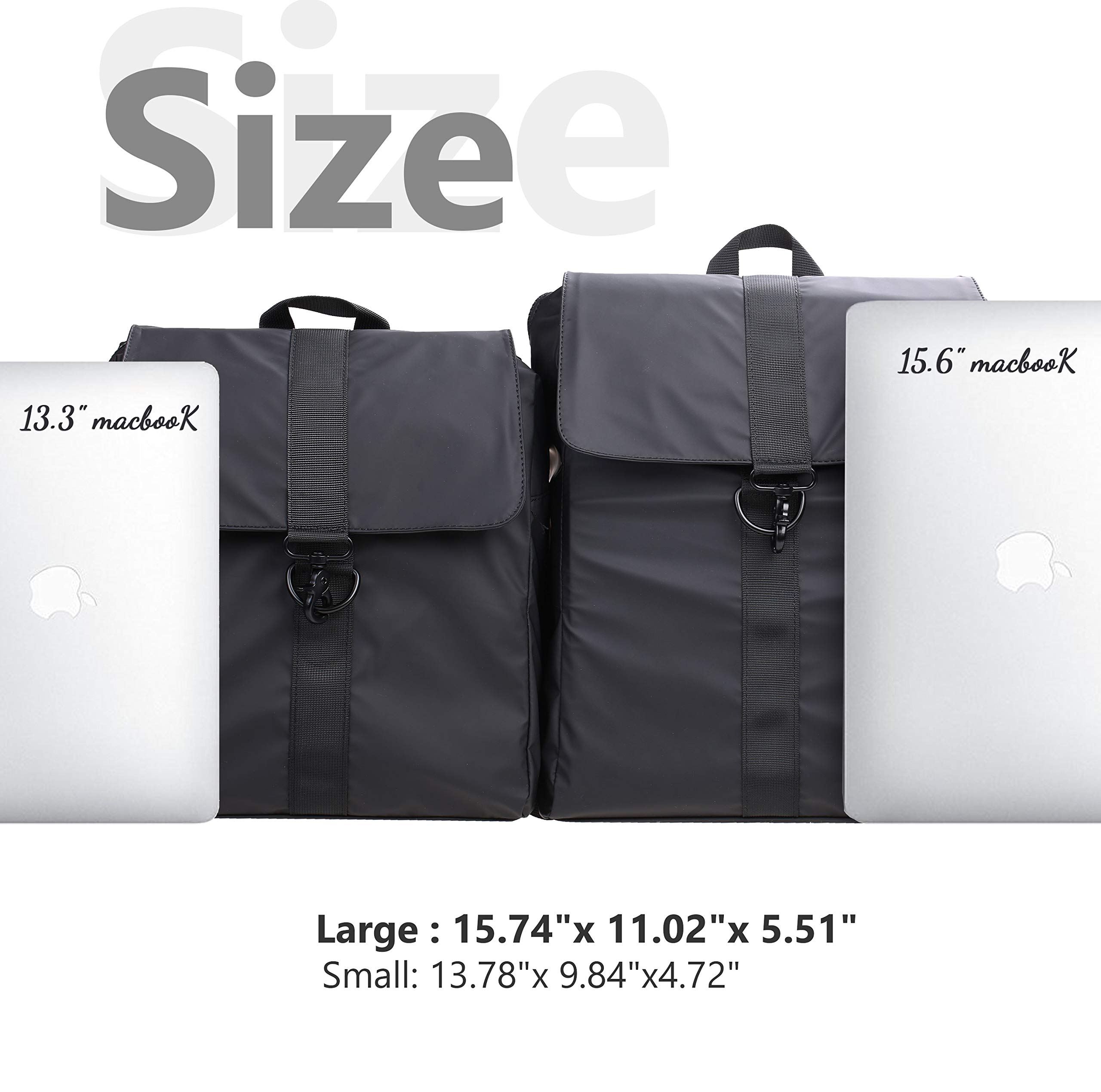 Fashion Backpack Water-Repellent Daypack Casual School Bag (L)