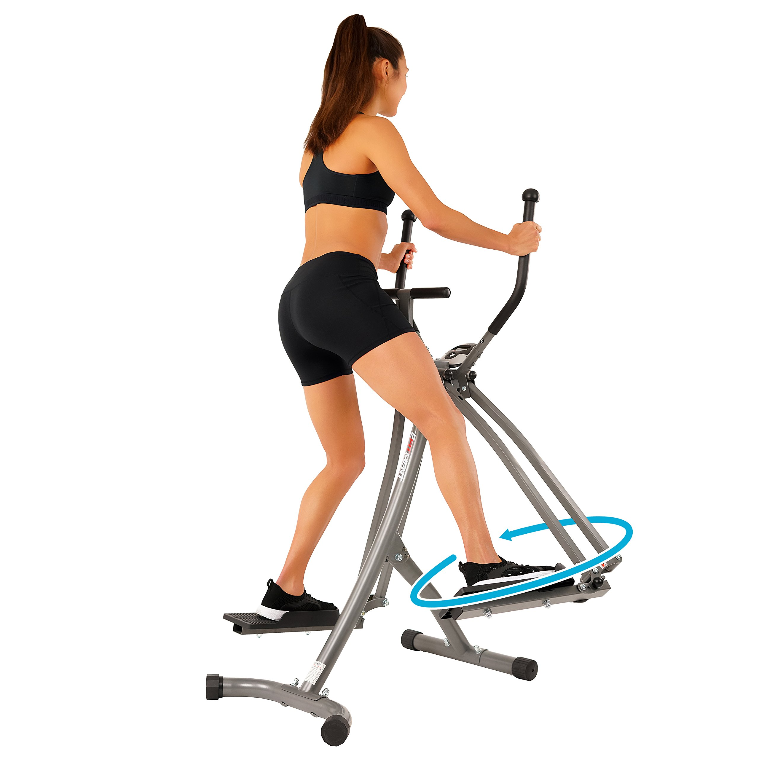 EFITMENT Air Walker Glider Elliptical Machine with Side Sway Action & 360 Motion for Exercise and Fitness - E020 by EFITMENT (Image #5)