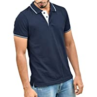 Ruffty Mens Cotton Polo,Collar Half Sleeve Tshirt - Loose Fit