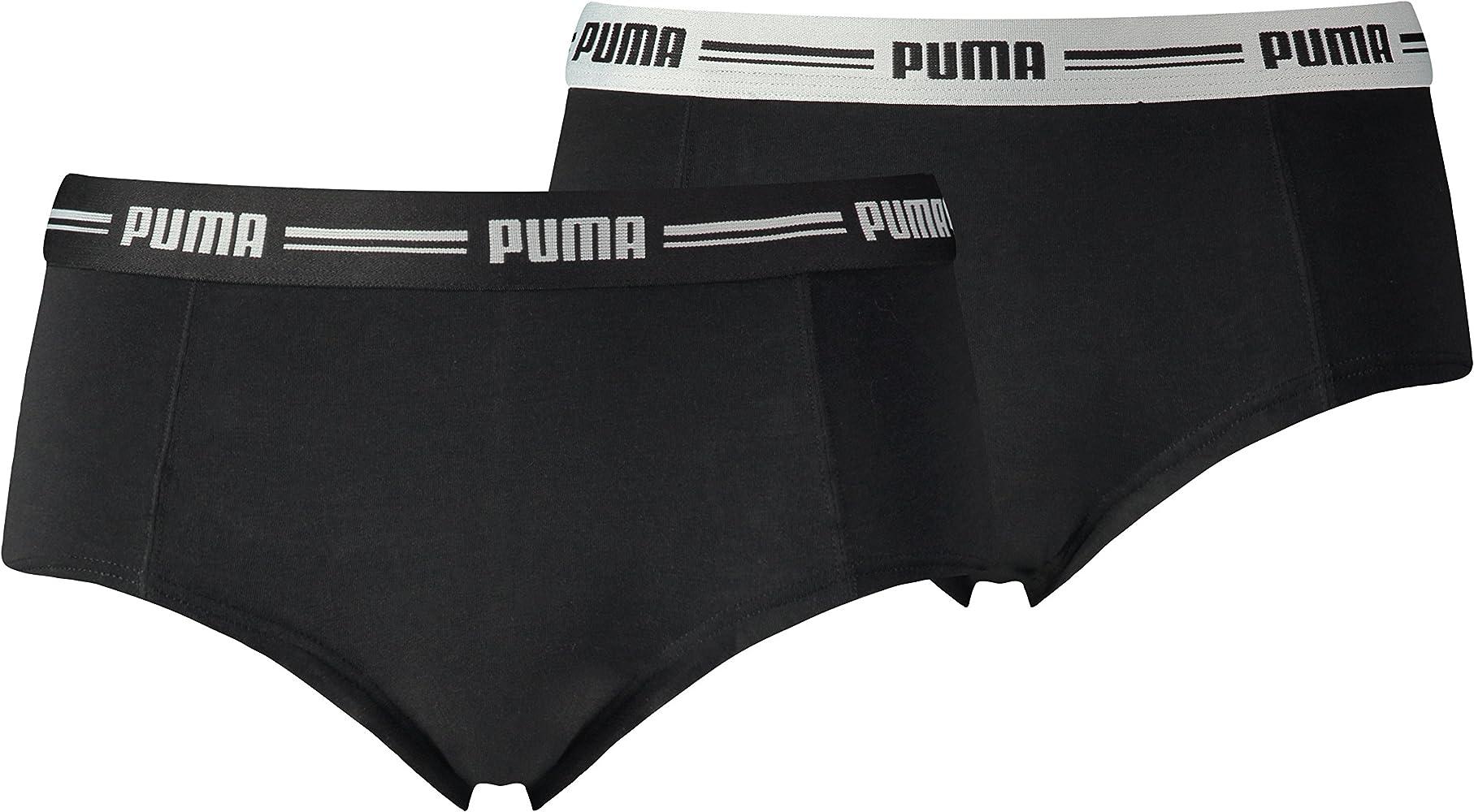 Puma 5730100010, Bóxer Para Mujer, Negro (Black), XS, Pack de 2 ...