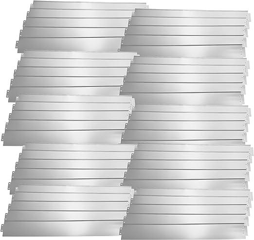 casa.pro] Borde limitador de jardín - Borduras de jardín - Set de 50 Piezas - Color Plata - Acero galvanizado: Amazon.es: Jardín