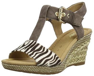 Gabor Shoes 22.824.22 Gabor Suede Leather Damen Plateau Sandalen ... 54f2119e22