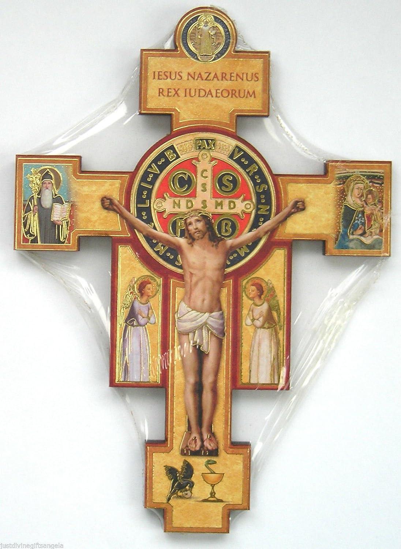 9 St Saint Benedict Crucifix Cross Wall Hanging