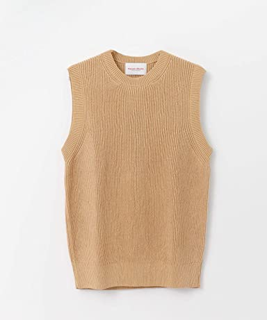 Vincent et Mireille Crewneck Sweater Vest VM191NL1301: Beige