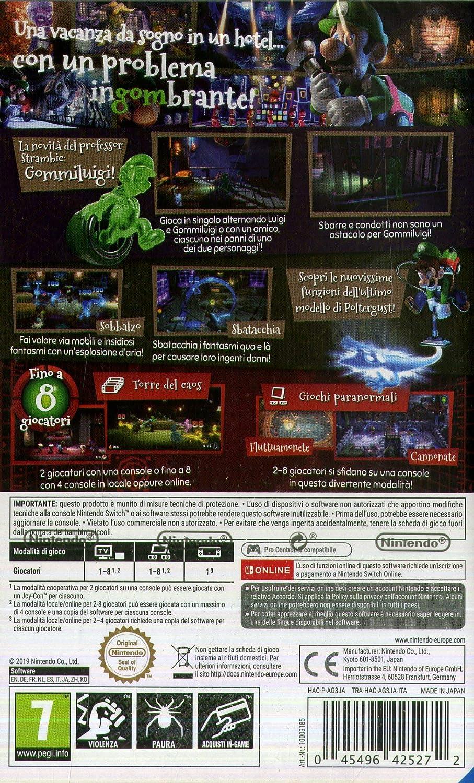 Luigis Mansion 3 - Nintendo Switch [Importación italiana]: Amazon.es: Videojuegos