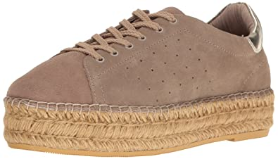 Womens Pace Fashion Sneaker, Taupe Suede, 6.5 M US Steven by Steve Madden