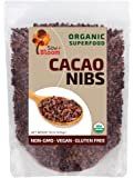 Cacao Nibs Organic Raw Superfood by SOW+BLOOM – Sugar Free, Gluten Free, Non GMO - 1 lb (16 oz), Not Cocoa Nibs