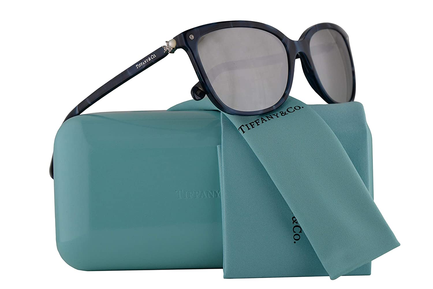 4fd0aa1de0c Tiffany   Co. TF4105HB Sunglasses Blue Shell w Light Grey Mirror Silver  Lens 55mm 82006V TF4105-H-B Tiffany Co. TF 4105HB TF 4105-H-B