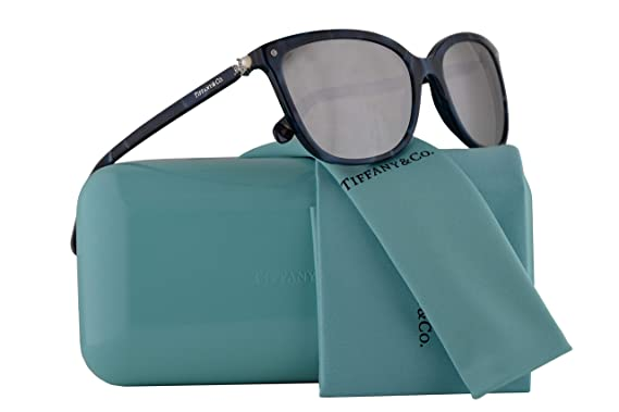 46181d670fc Tiffany   Co. TF4105HB Sunglasses Blue Shell w Light Grey Mirror Silver  Lens 55mm