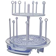 The First Years Spin Stack Drying Rack | Two Levels Save Space | Dry Bottles, Pacifiers, Teethers, Sippy Cups and More | Stores Flat