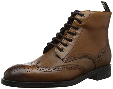 e0ec46855 Amazon.com  Ted Baker Men s Twrens Leather Lace Up Brogue Boot Tan ...