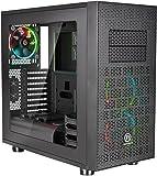 Thermaltake Core X31RGB Edition ATX GAMING Mid Tower Agua de refrigeración Gaming Computer Case ca-1e9–00m1wn-02, X31 RGB, Negro