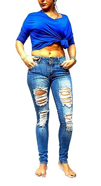 c5c9ea1a29 Machine Jeans Low Rise Skinnys Leg Ripped Distressed Blue Denim W/USA Flag  (0