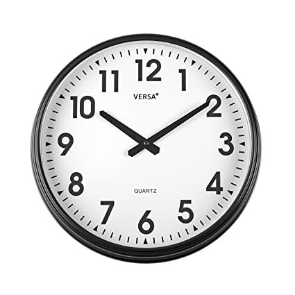 Versa 1965010 Reloj Cocina, 37 cm, Negro, 37.50x6.00x37.50