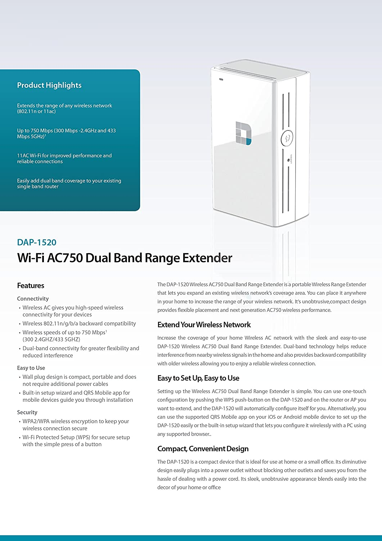 d link dap 1520 wireless ac750 dual band range extender amazon co d link dap 1520 wireless ac750 dual band range extender amazon co uk computers accessories