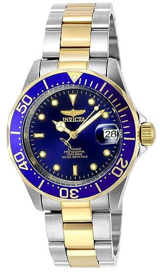 45a218570a4 Invicta 8928 Pro Diver Reloj Unisex acero inoxidable Automático Esfera  azul  Invicta  Amazon.es  Relojes