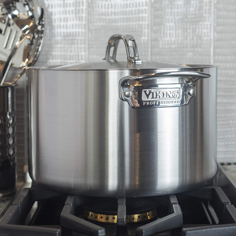 Viking Culinary Professional - Olla con tapa (5 capas, acero inoxidable): Amazon.es: Hogar