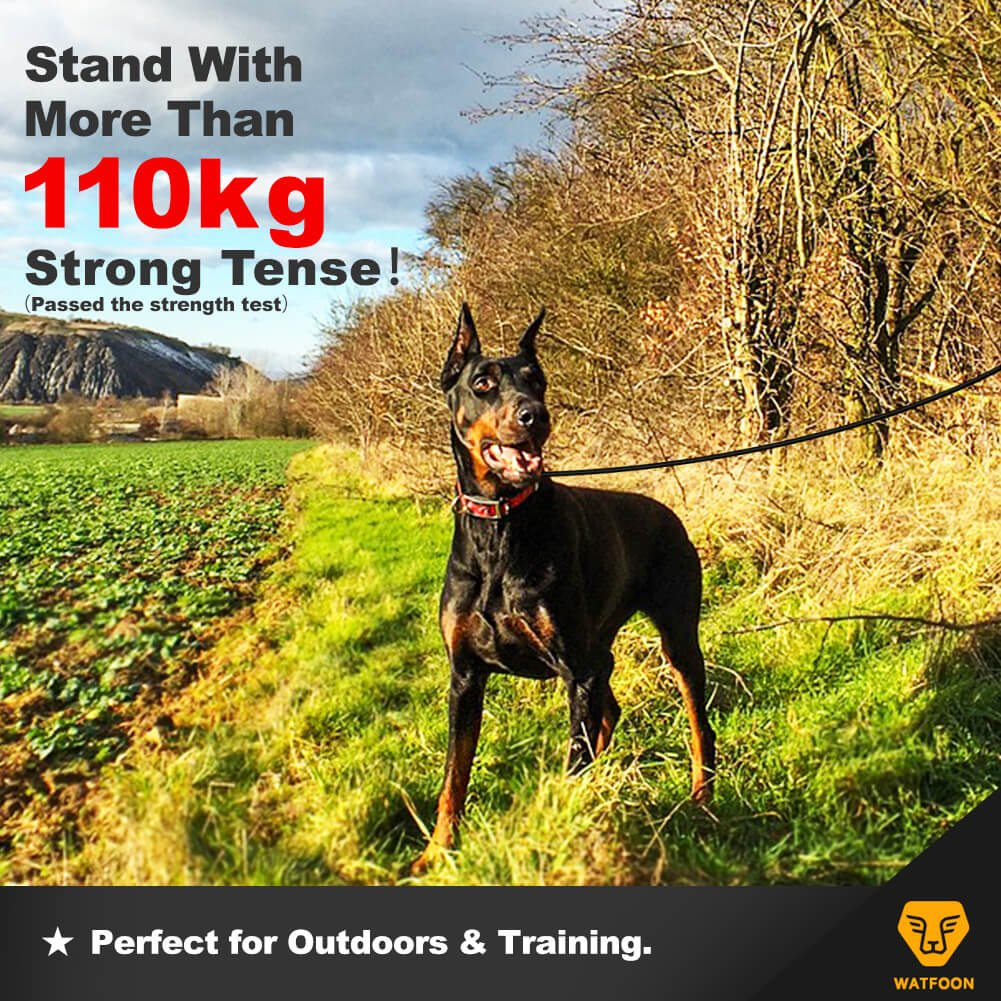 0.8M//1M//1.2M//1.3M//1.5M//1.8M - GII Series 0.8M Watfoon Indestructible Waterproof Dog Lead for Large Breed Dogs,Professional for Training and Tough for Daily Walking Black Red