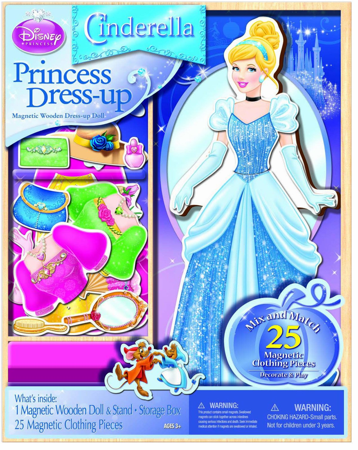 Disney Princess Magnetic Dress Up Playset -- Cinderella Magnetic Dress Up Doll (25 Pc Set) by Disney Princess