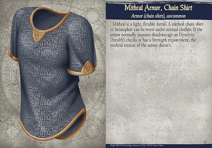 Amazon Com Inkwell Ideas Magic Item Card Catalog 5e Armors Of