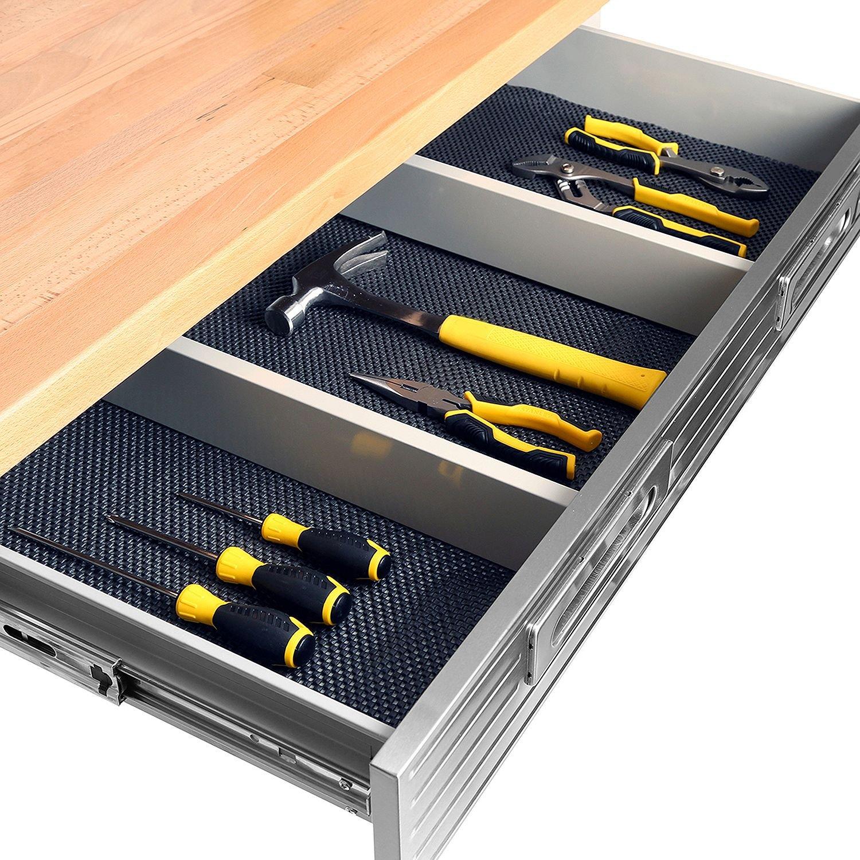 Hardwood Top Workbench Garage Worktable With Integrated