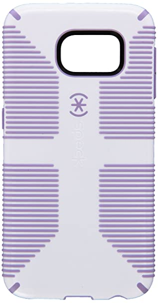 Speck Products Candy Shell Grip Case For Samsung Galaxy S6   Retail Packaging   White/Heather Purple by Speck