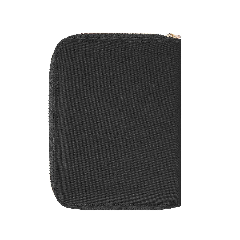 Travelon RFID Blocking Passport Zip Wallet Garnet 43401-240