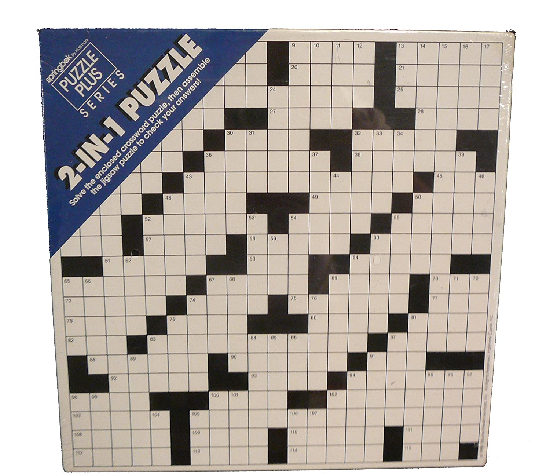 Springbok 2-In-1 Puzzle Crossword Puzzle PZL3431