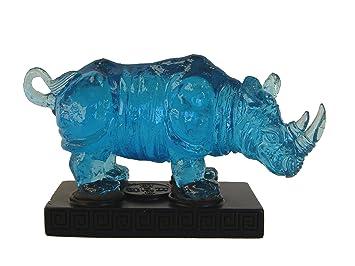 Feng Shui Rhinocéros bleu Import Statue Feng Shui Produit: Amazon.fr ...