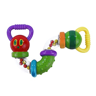 World of Eric Carle, The Very Hungry Caterpillar Zig Zag Caterpillar Rattle : Baby [5Bkhe0203006]