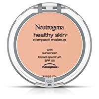 Neutrogena Healthy Skin Compact Lightweight Cream Foundation Makeup with Vitamin E Antioxidants, Non-Greasy Foundation with Broad Spectrum SPF 55, Natural Ivory 20,.35 oz