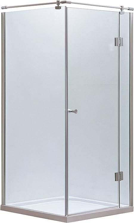 Mampara de ducha cabina de ducha cuadro entrada por la esquina cuadrada 90 x 90: Amazon.es: Hogar