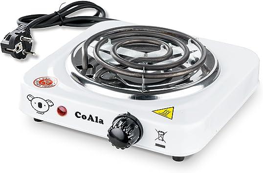 E-heater eléctrico para carbón Hornillo eléctrico placa para cachimba color carbón de bambú o cáscaras de coco 1000 W