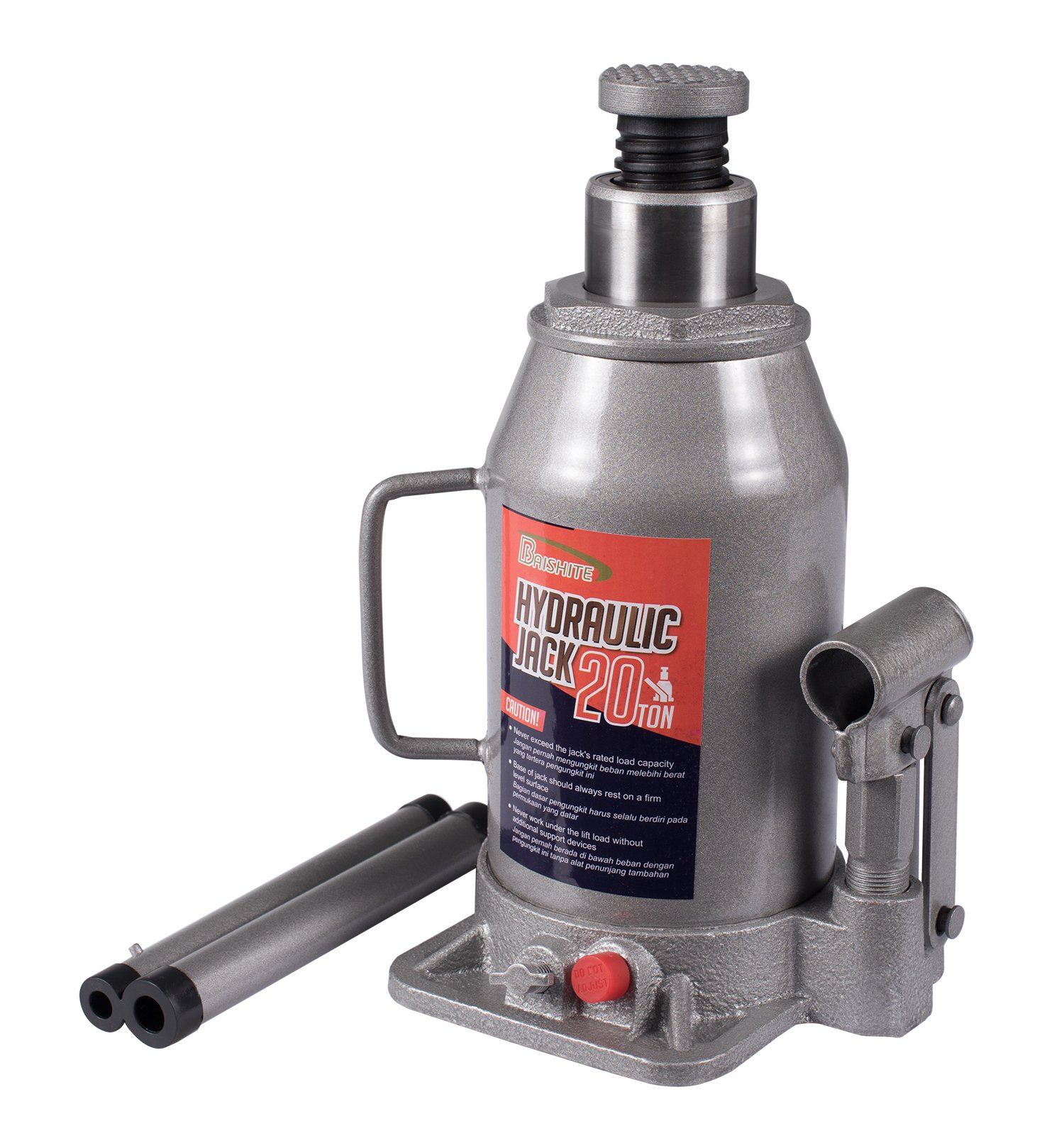 BAISHITE Hydraulic Bottle Jack 10 Ton Capacity Grey